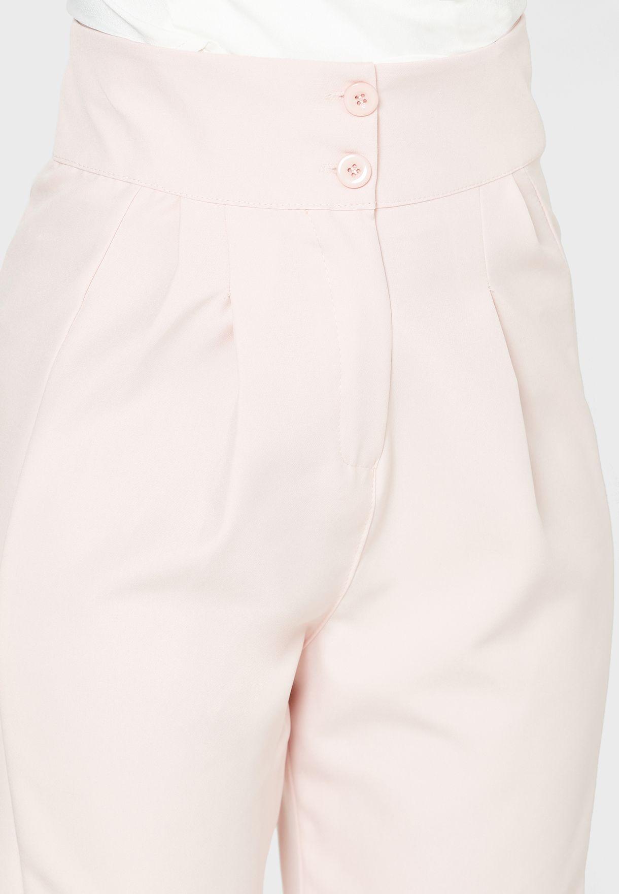 Button Front Pants
