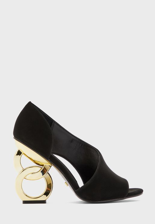Cher High Heel Peep Toe Sandal