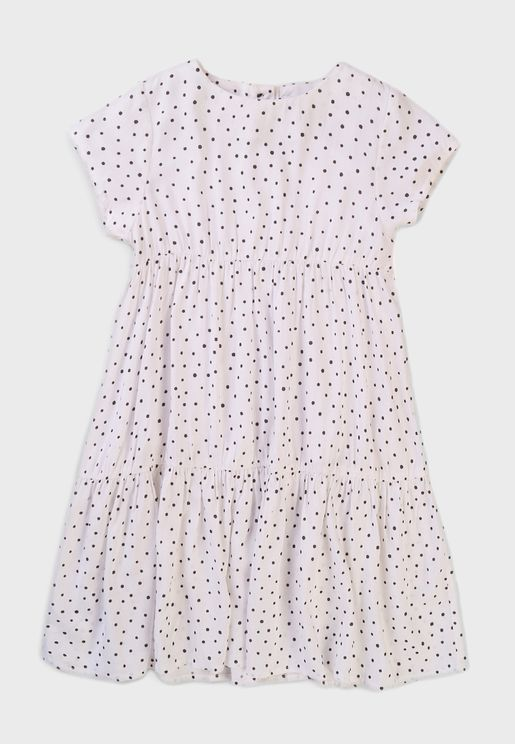Infant Polka Dot Tiered Dress