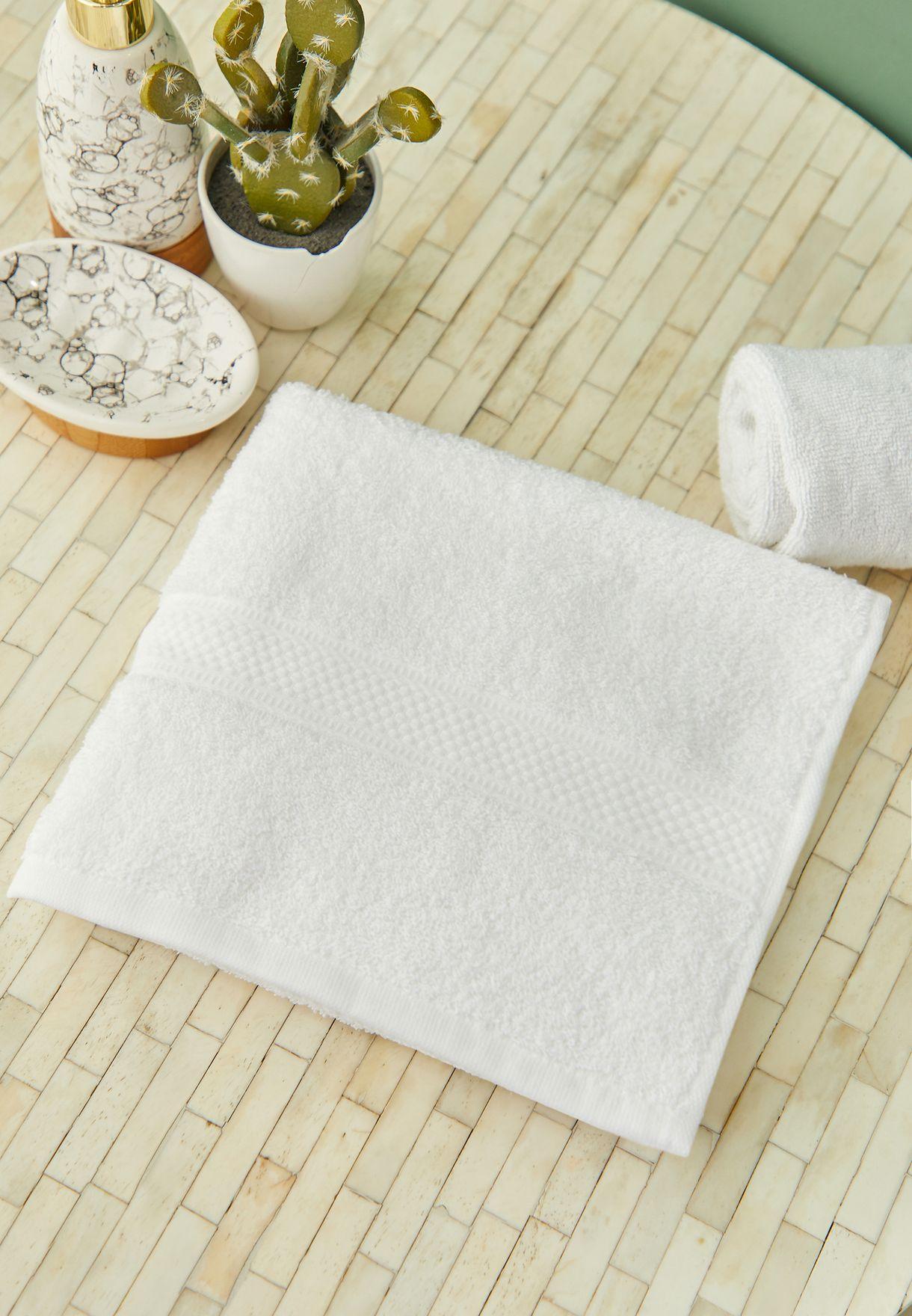Plain White Bath Towel 50*100cm