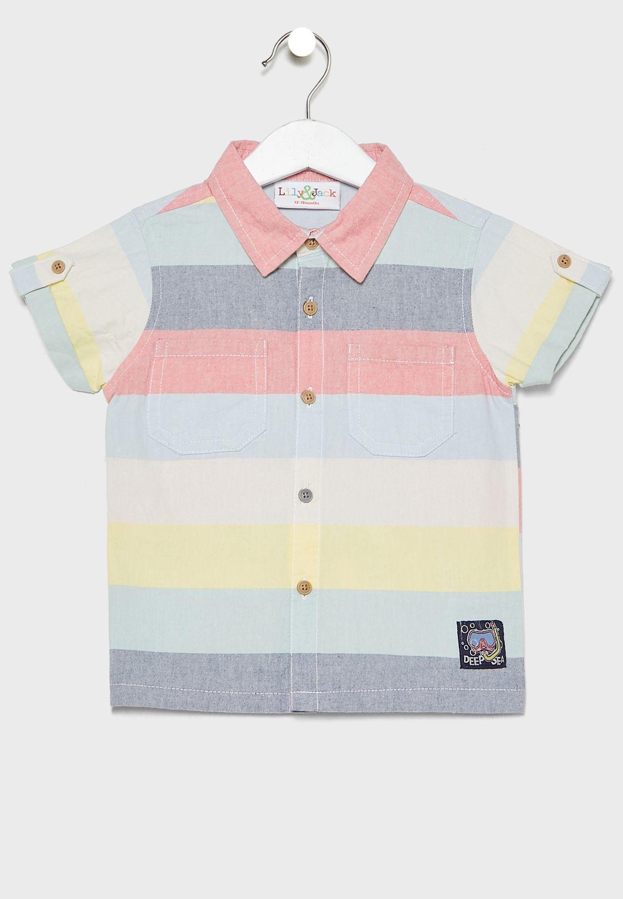 Infant Color Block Shirt + Shorts Set