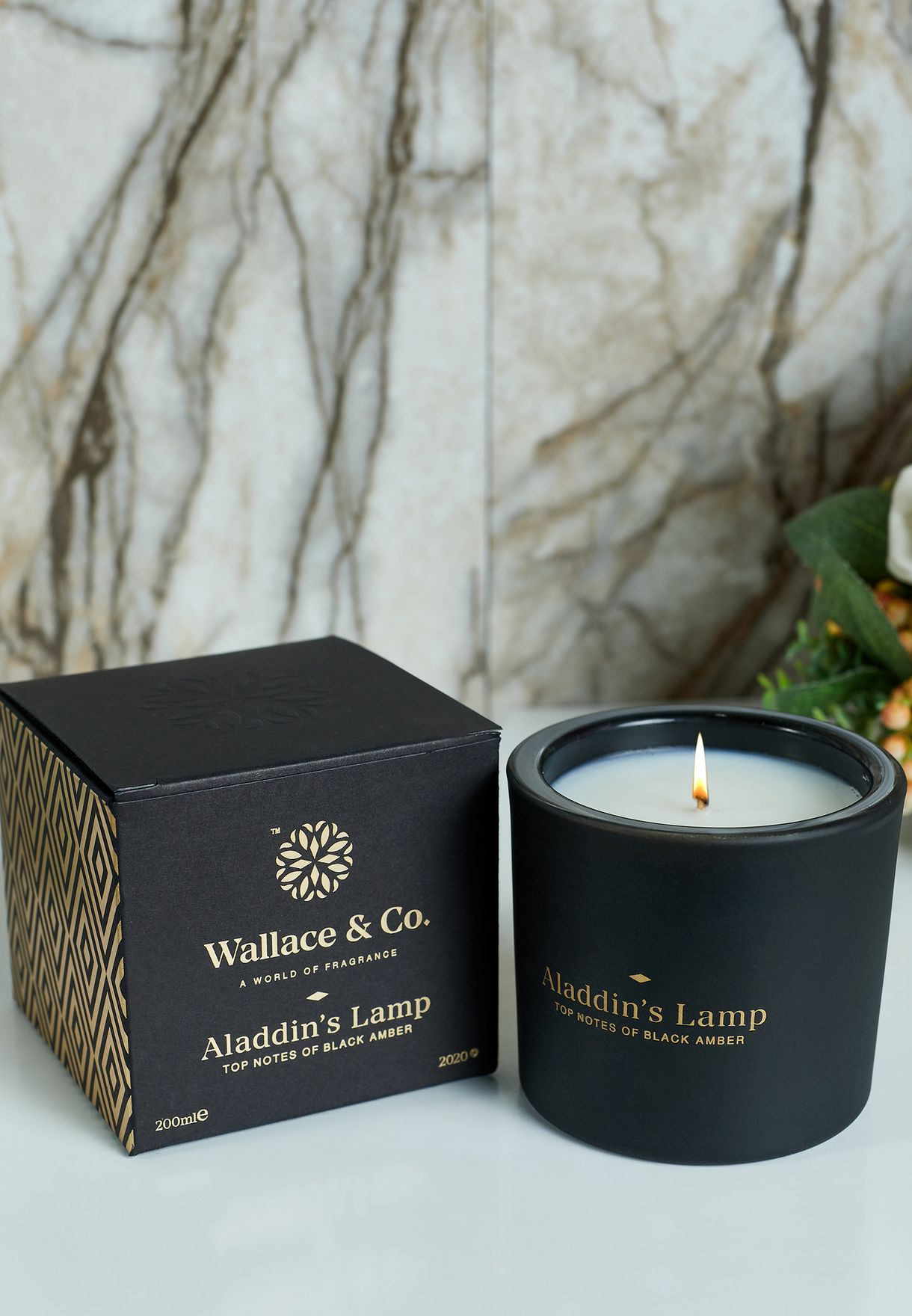 Black Amber Aladdin's Lamp Scented Candle 200ml