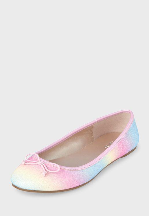 Kids Glitter Rainbow Ballerina