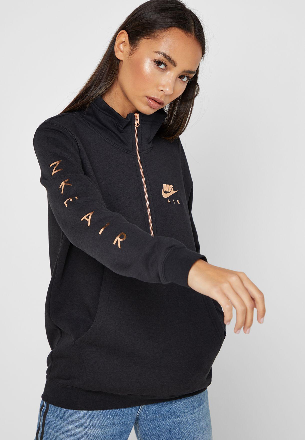 321949f0a43a Shop Nike black Air Fleece Sweatshirt AQ9969-010 for Women in UAE ...