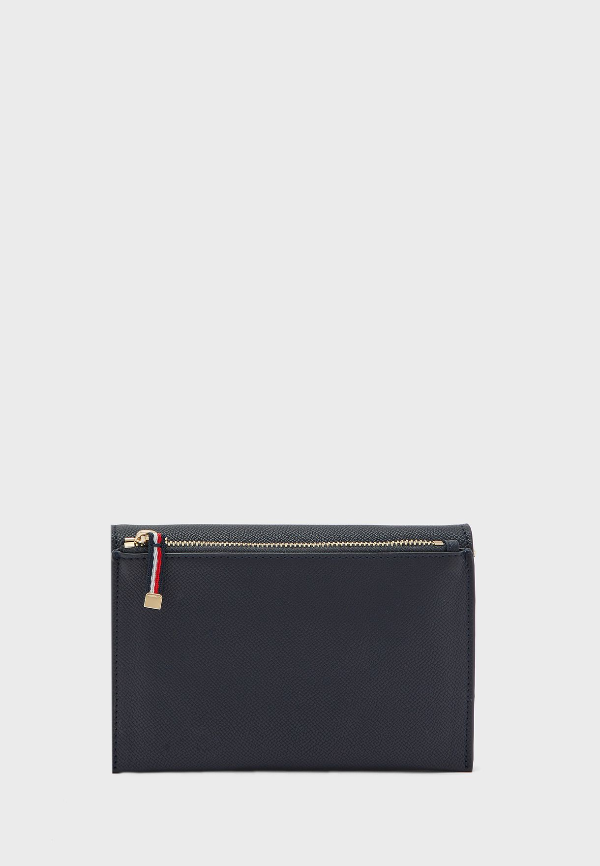 Saffiano Belted Flap Over Crossbody