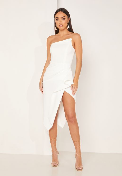 Landscape Asymmetric Bodycon Dress