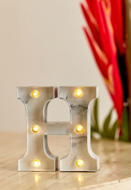 Initial H Marble Mini Light