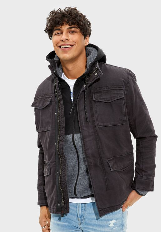 Sherpa Lined Military Jacket