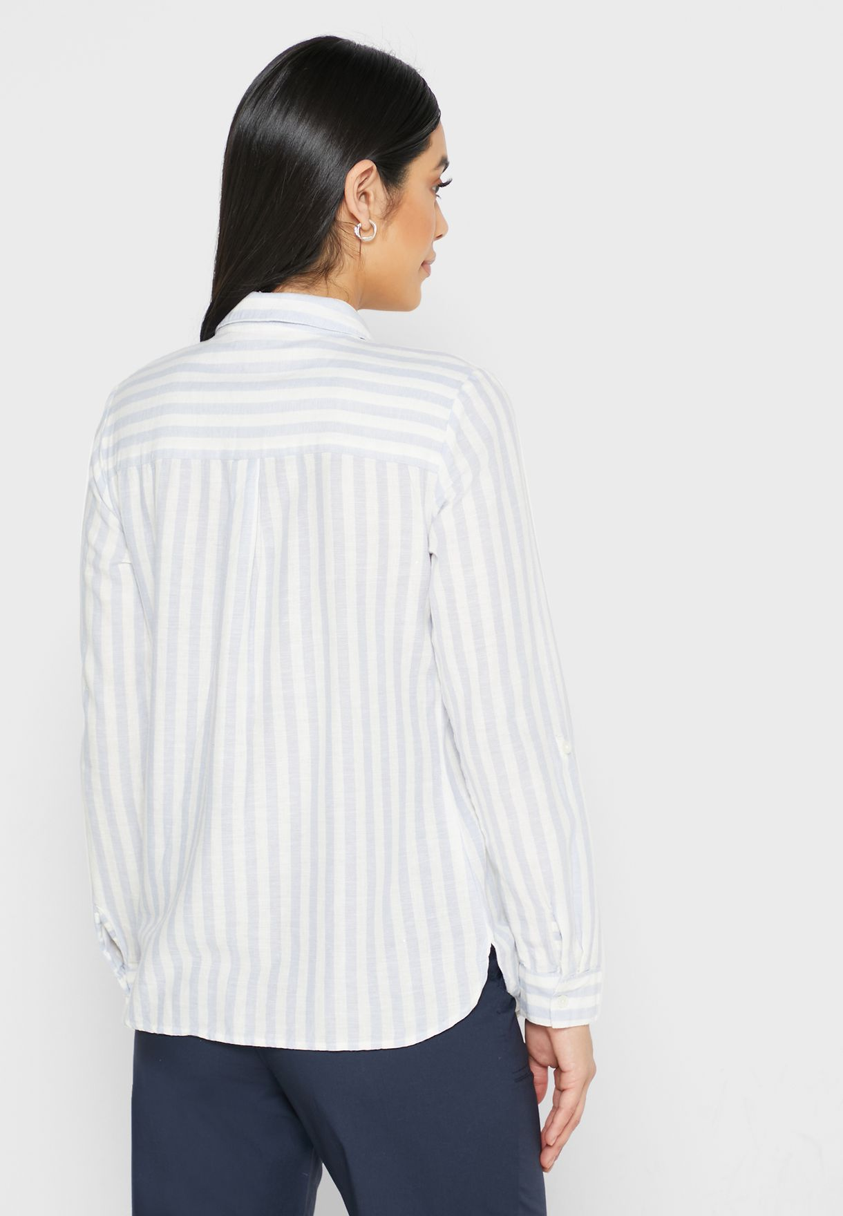 Roll Sleeve Button Down Shirt