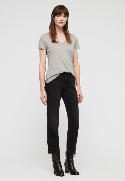 Malin V-Neck Silk T-Shirt