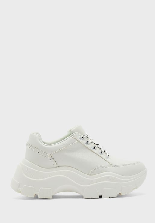 Chunky Seam Detail Low Top Sneaker