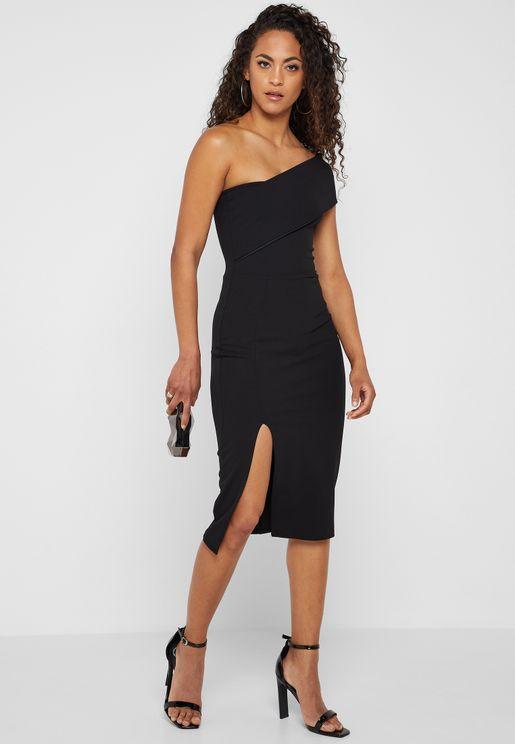 One Shoulder Cut-Out Dress 0e1ebd1f49