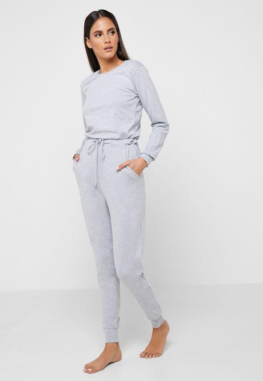 9f50bfbb37 Tie Waist Sleep Jumpsuit
