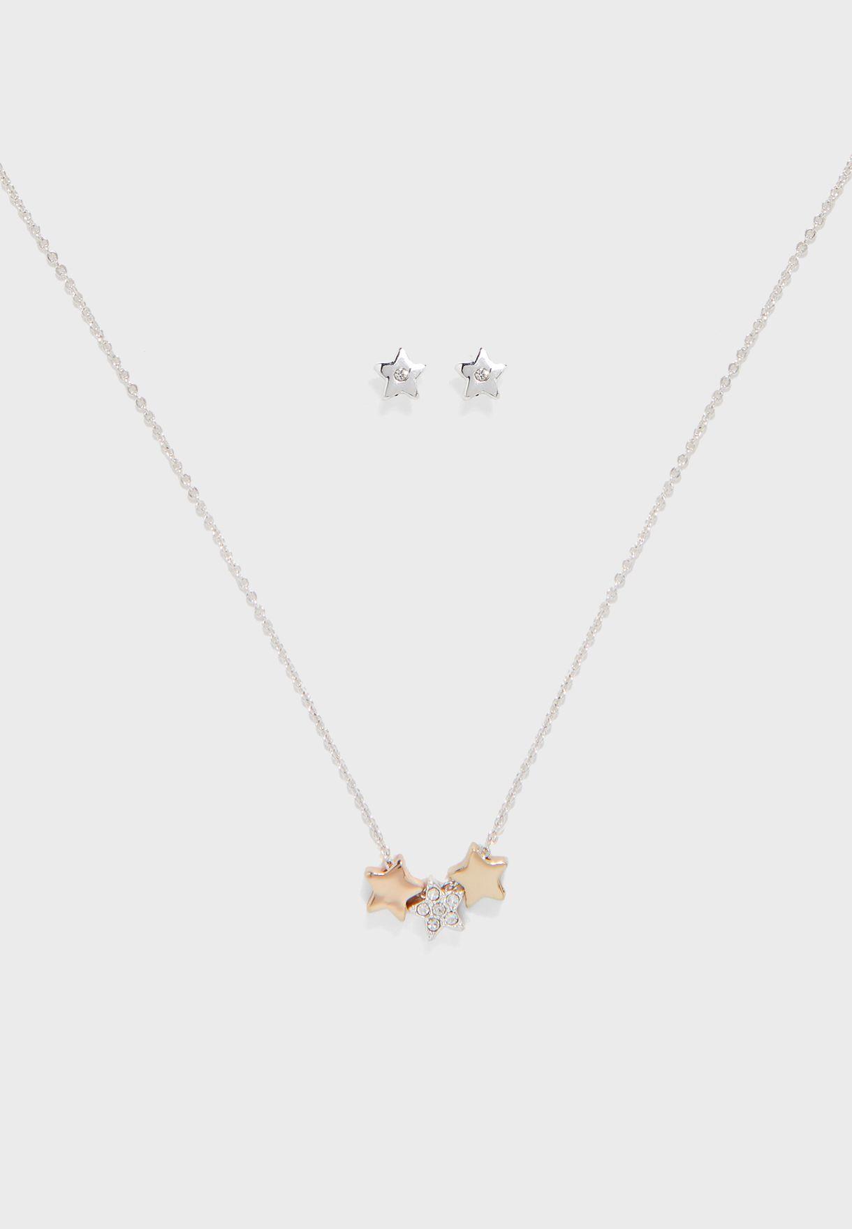 Starburst Necklace+Earring Set