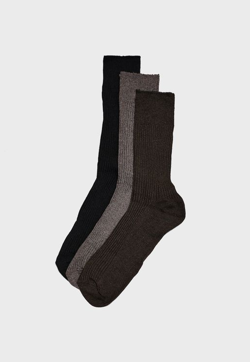 3 Pack Soft Top Socks