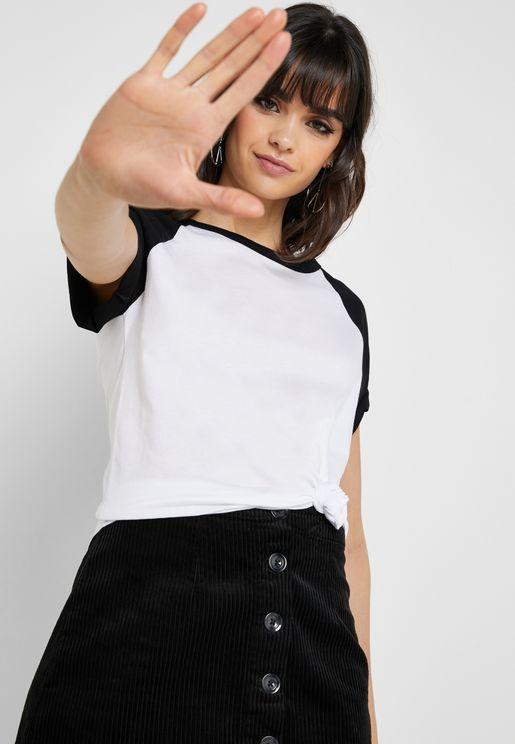 Raglan Short Sleeve T-Shirt