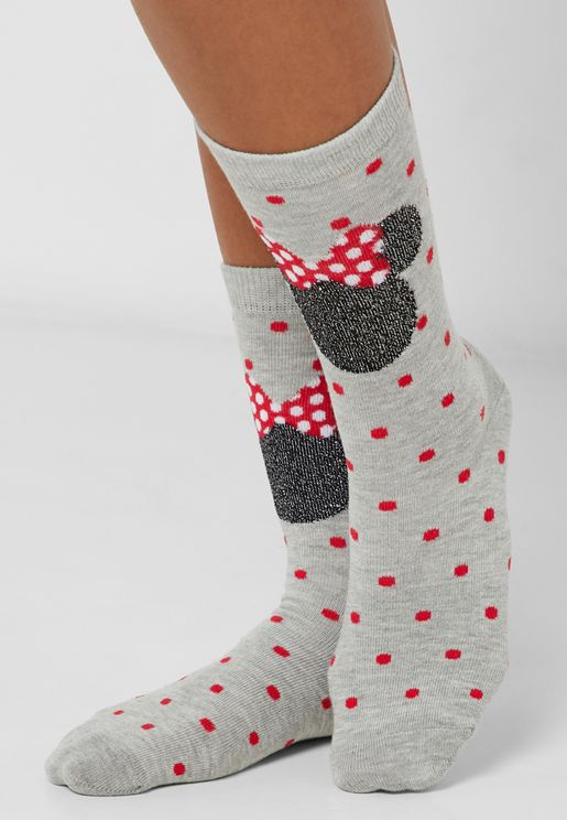 Minnie Spot Print Socks