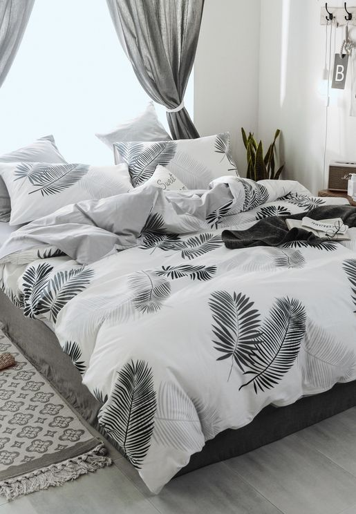 King Size Palm Leaf Bed Set