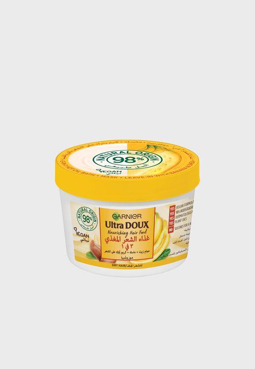 ماسك الترا دو الموز المغذي 3 في 1 للشعر الجاف