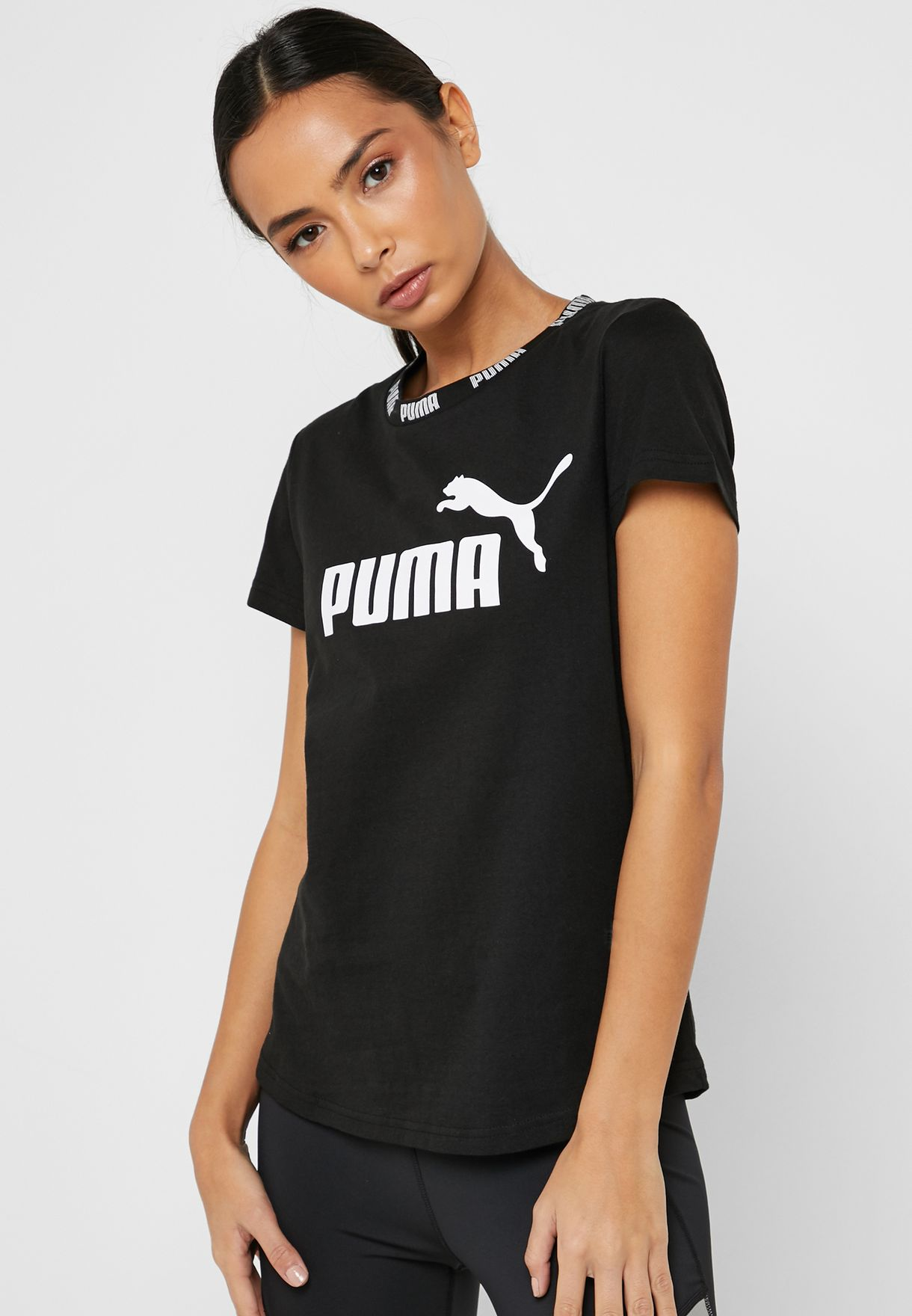 6a31d9144a07 Shop PUMA black Amplified T-Shirt 85463901 for Women in UAE ...