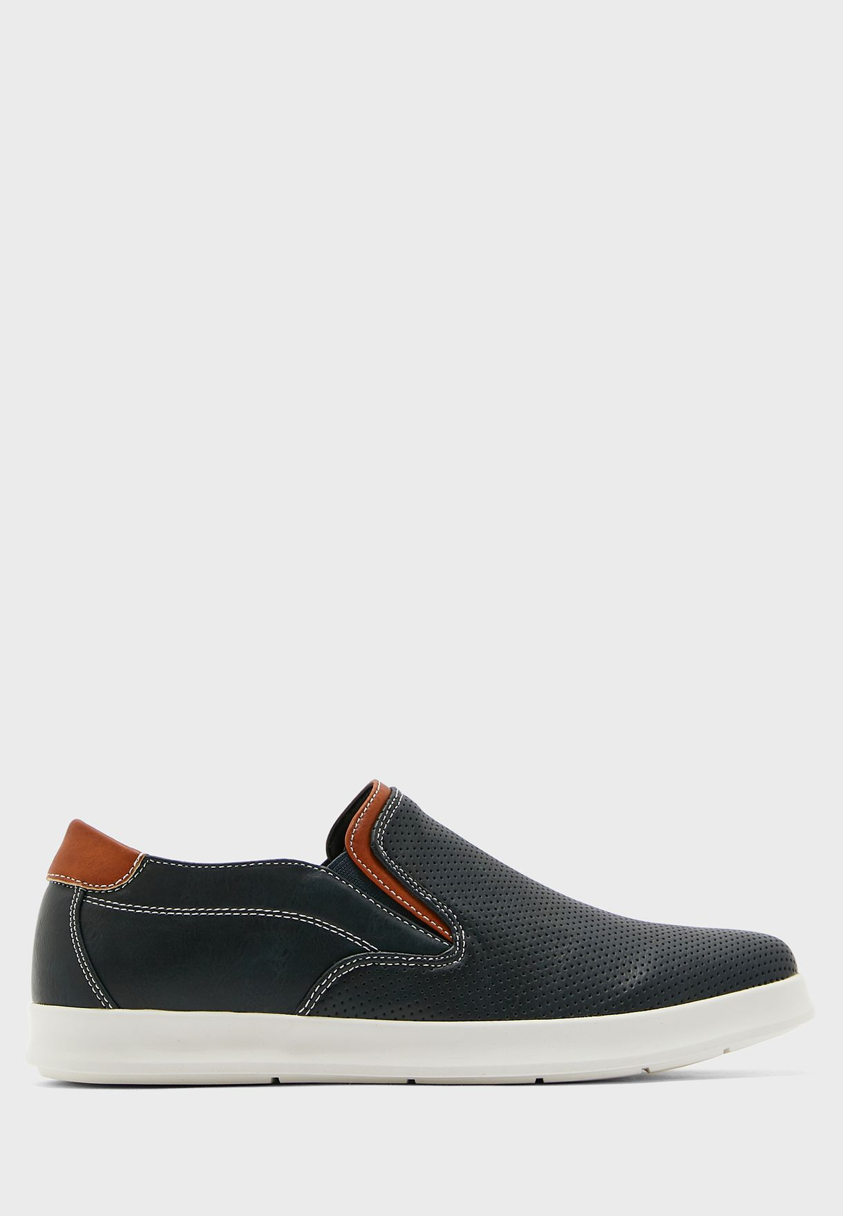 Perforated Casual Slip Ons