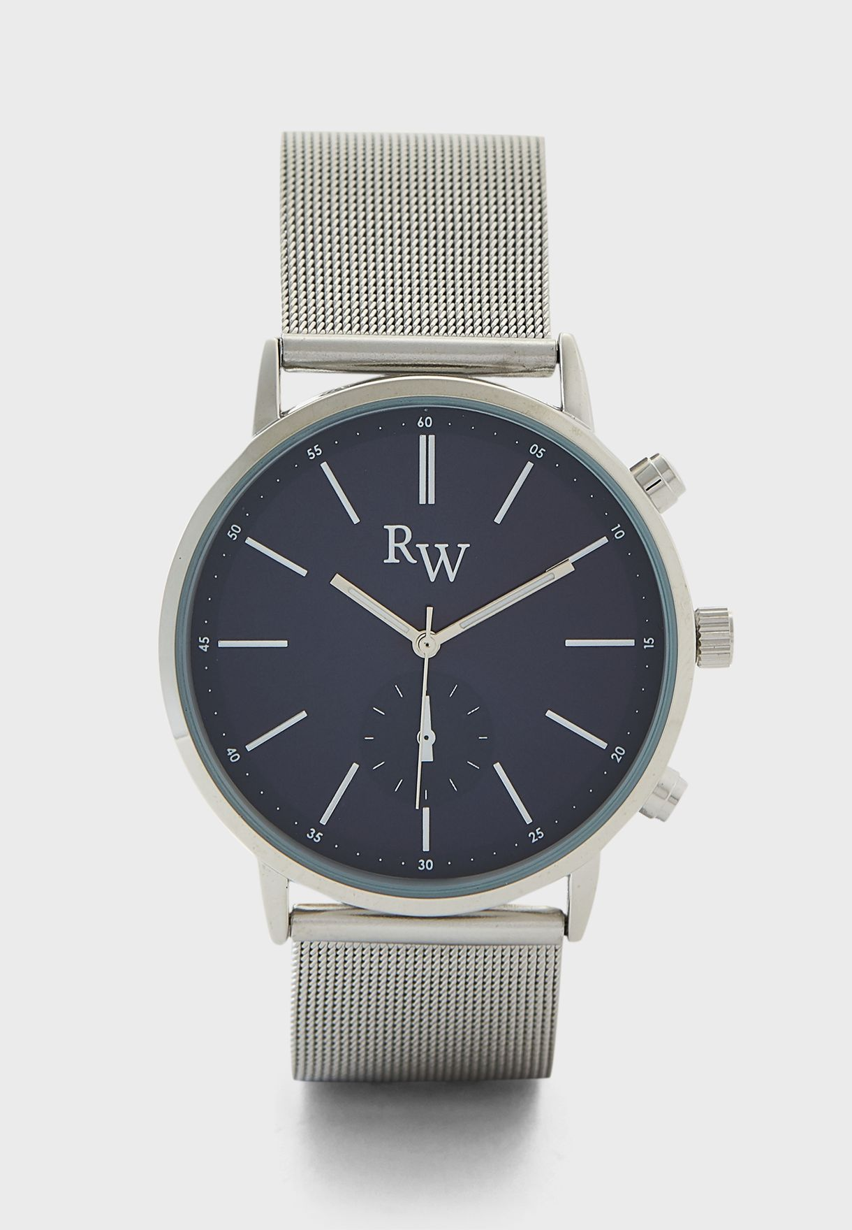 Dark Dial Mesh Strap Analogue Watch