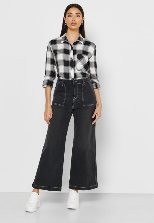 Seam Detail Cropped Jeans