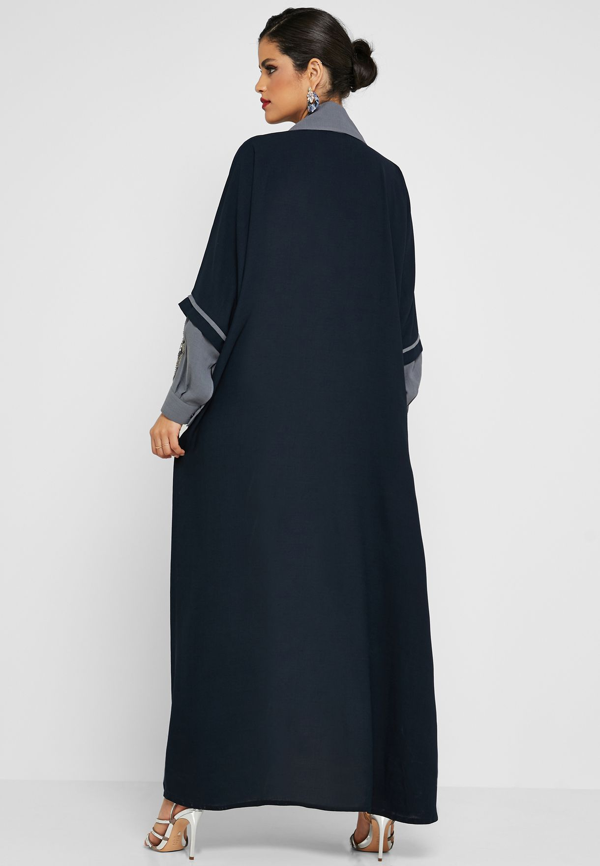 Coat Collar Embellished Abaya