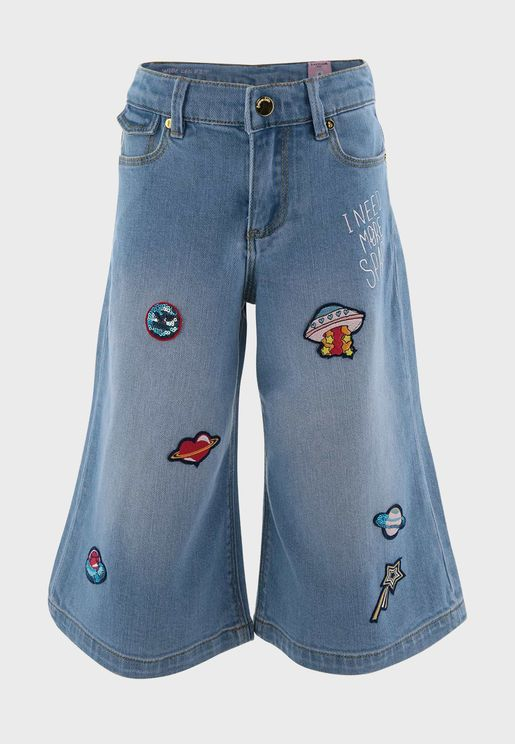 Kids Embroidered Jeans
