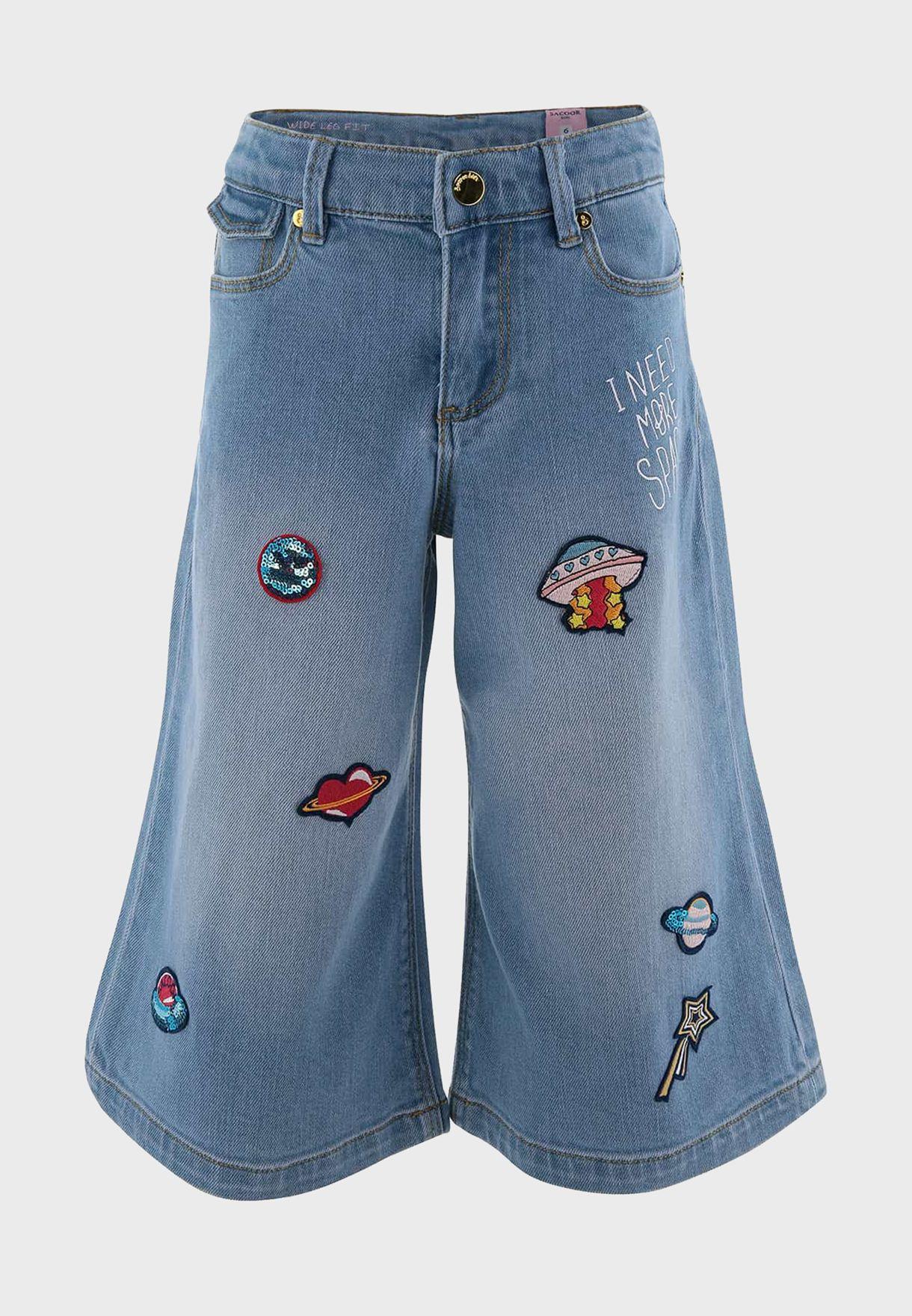 جينز بتطريز للاطفال