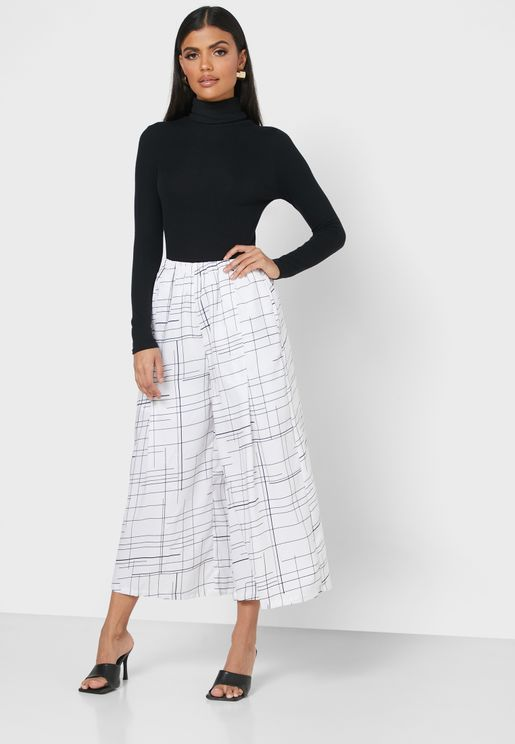 High Waist Crop Pants