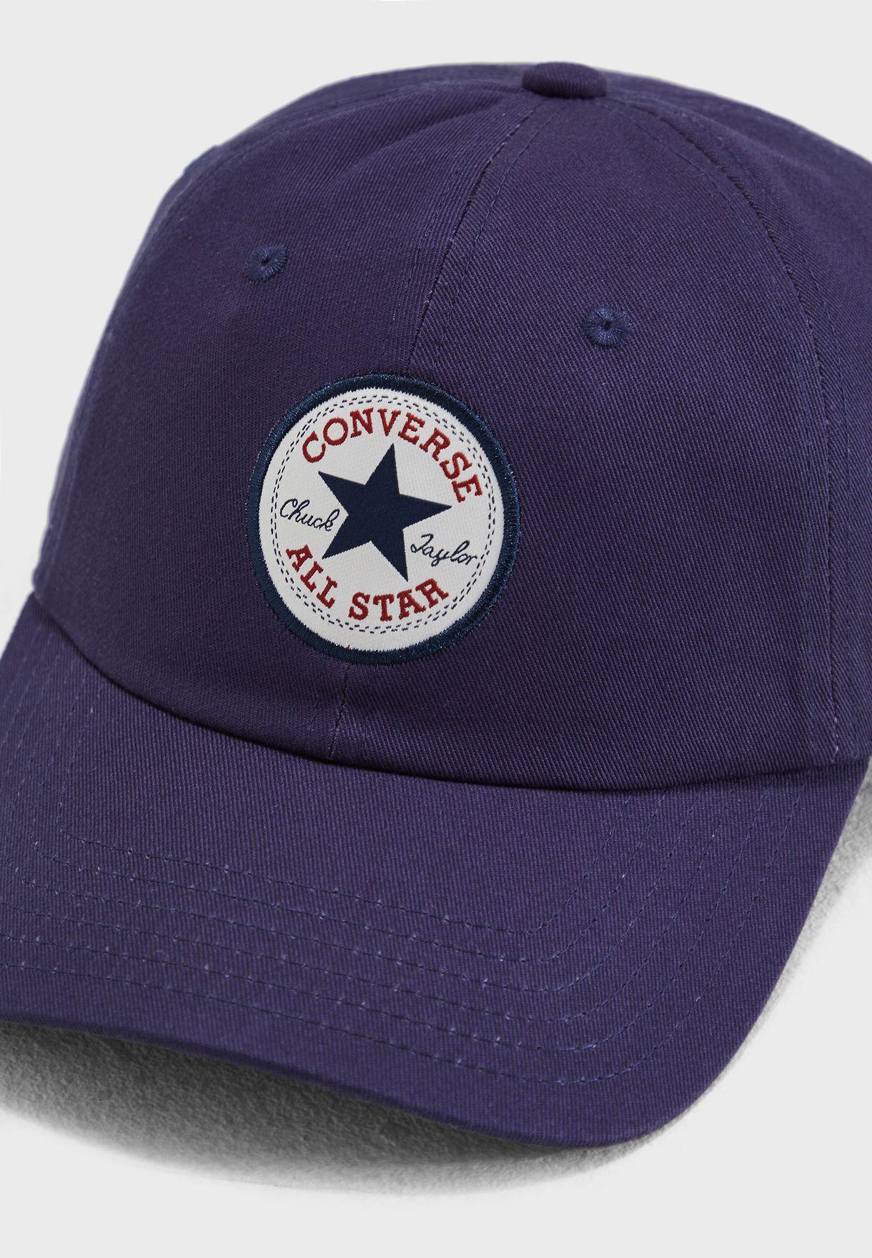 Shop Converse navy Chuck Taylor Baseball Cap 10008474-A05 for ... 7d16c272347