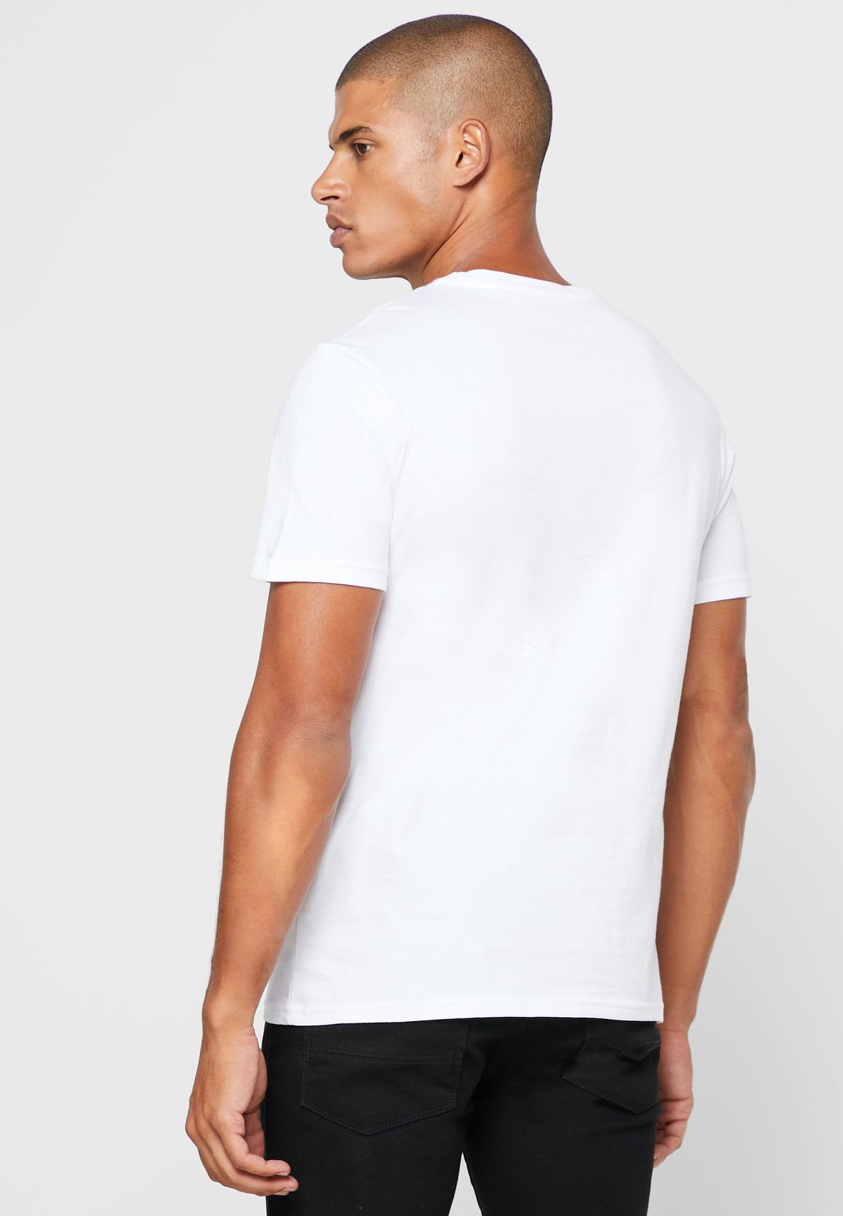 Slogan Camo Crew Neck T Shirt