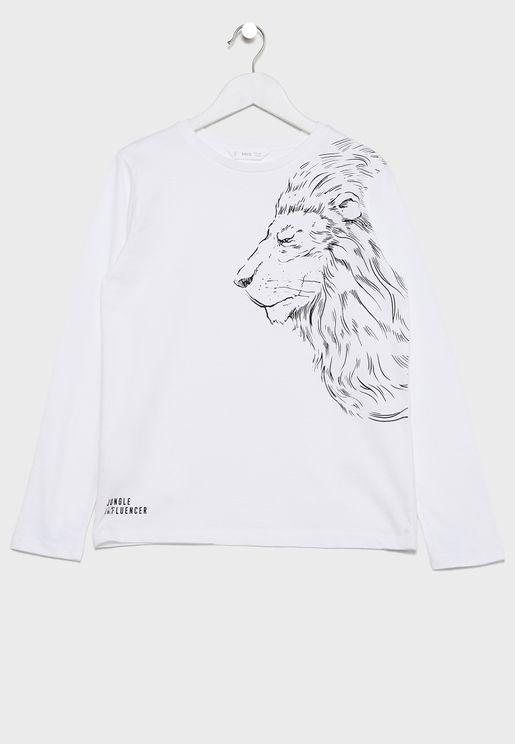 Kids Tiger Print T-Shirt