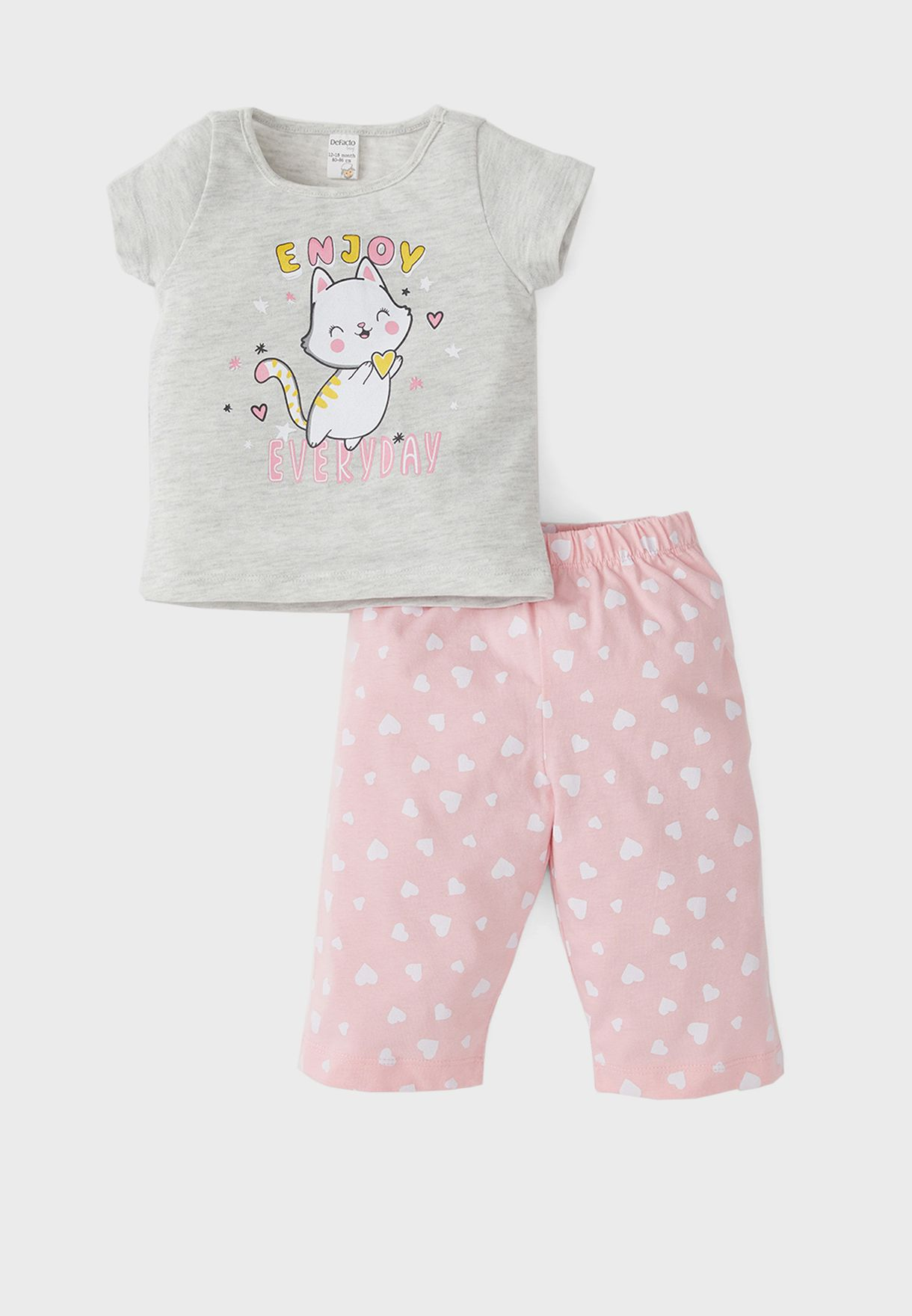 Infant Cat Print Pyjama Set