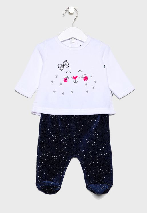 Infant Printed Sweatshirt + Sweatpants Set