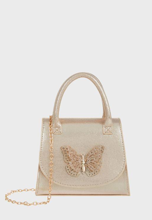 Savannah Glitter Butterfly Satchel