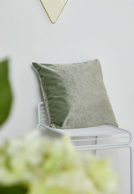 Green Faux Pony Fur Cushion With Insert 45x45 cm
