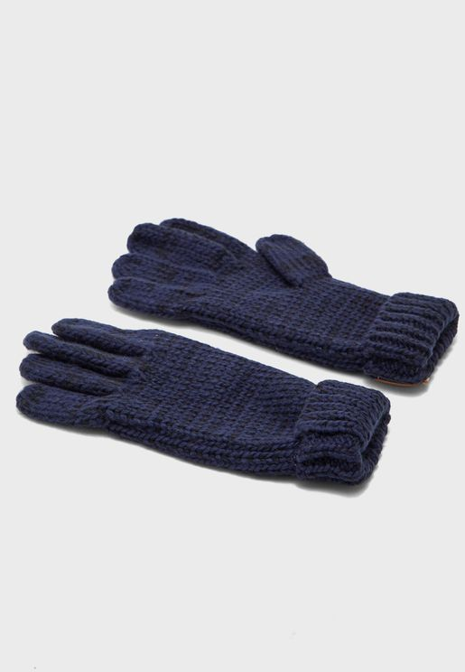Kids Knitted Turn-Cuff Glove