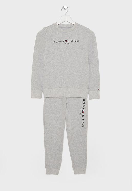 Teen Logo Sweatshirt + Sweatpant Set