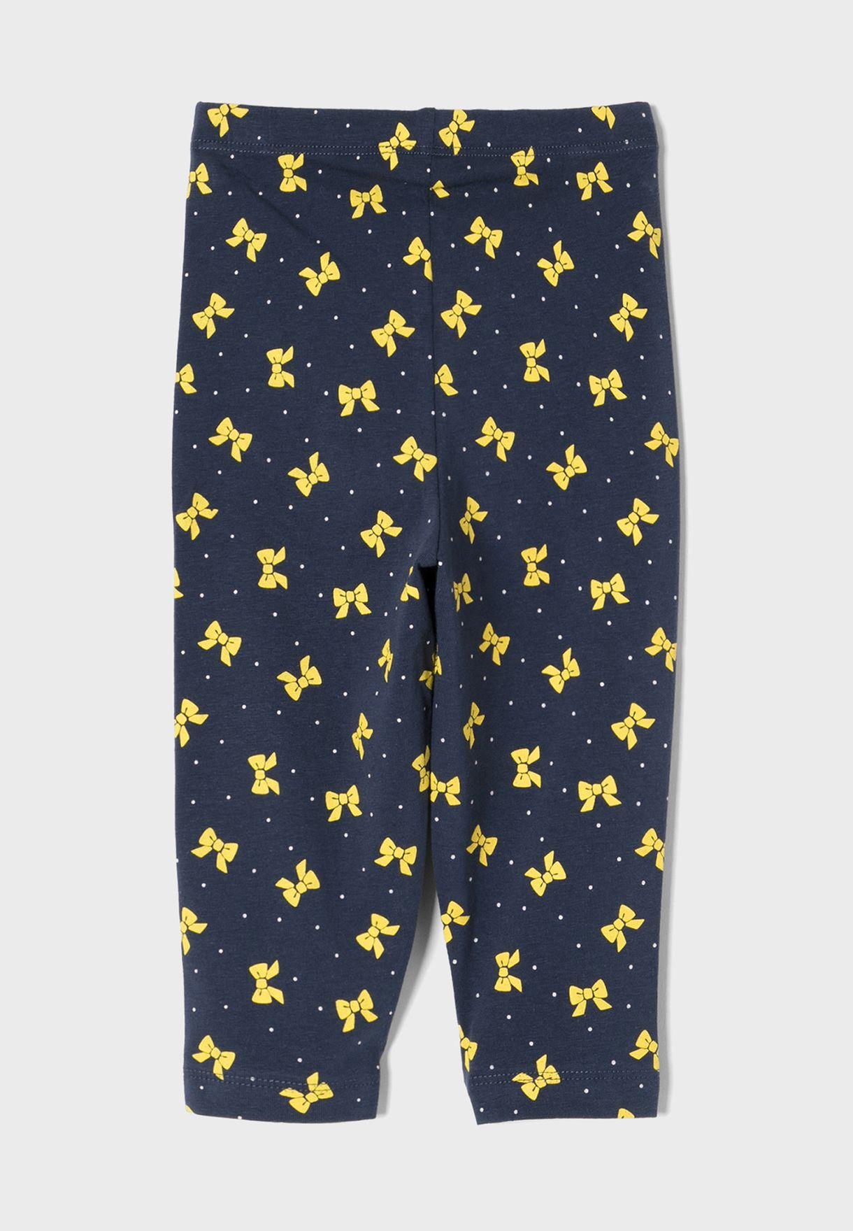 Infant Bow Print Sweatpants