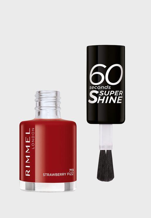 60 Seconds Super Shine Nail Polish 713 Strawberry Fizz