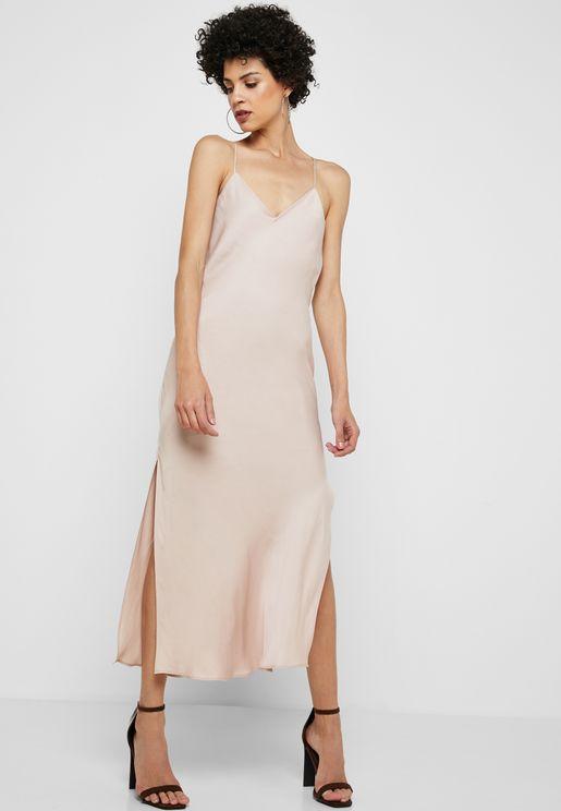Side Split Back Dress