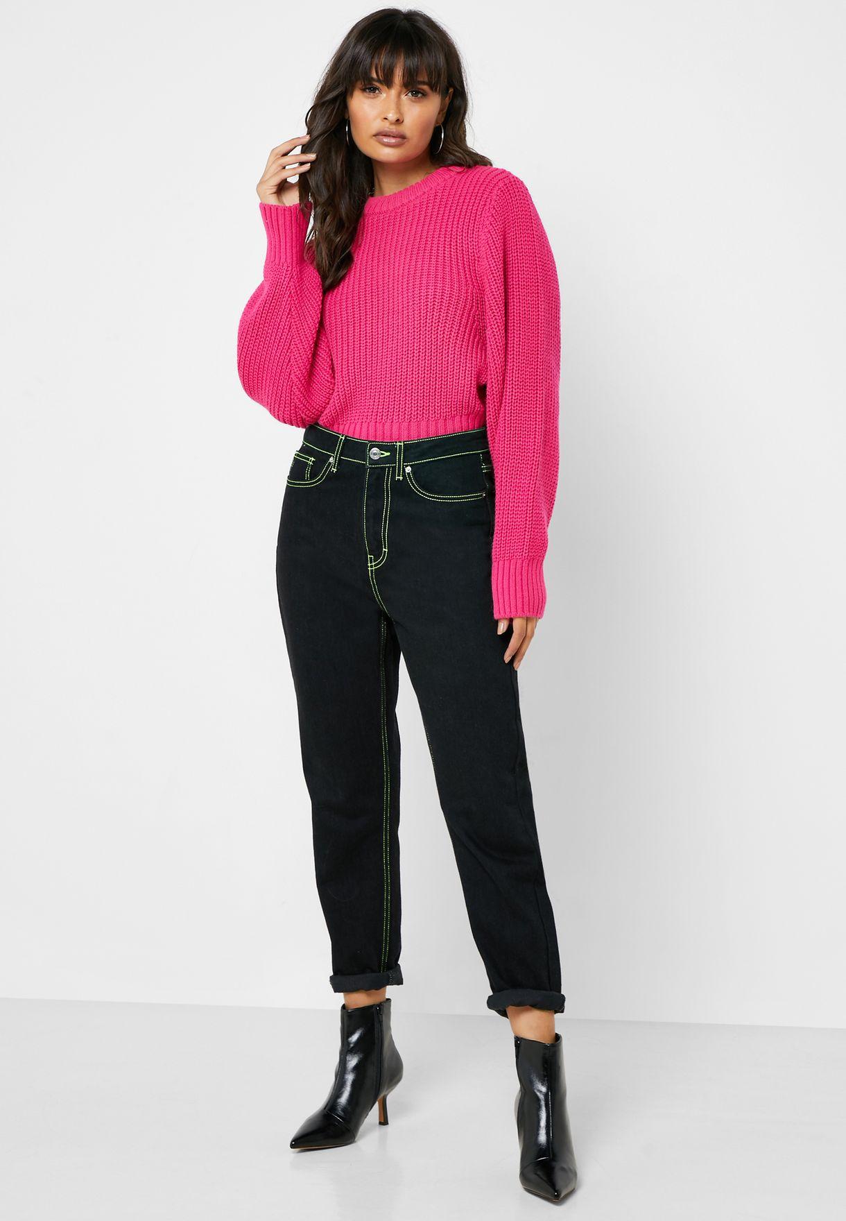 Side Slit Ribbed Sweater