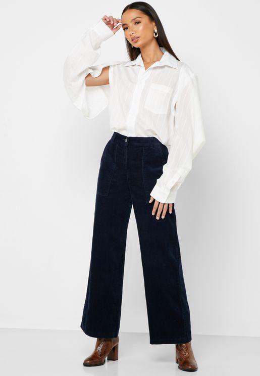 Wide Leg Cord Pants