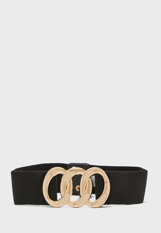 Chain Buckle Detail Belt