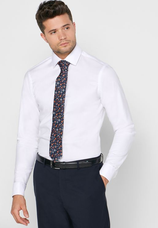 Oxford Double Cuff Slim Fit Shirt