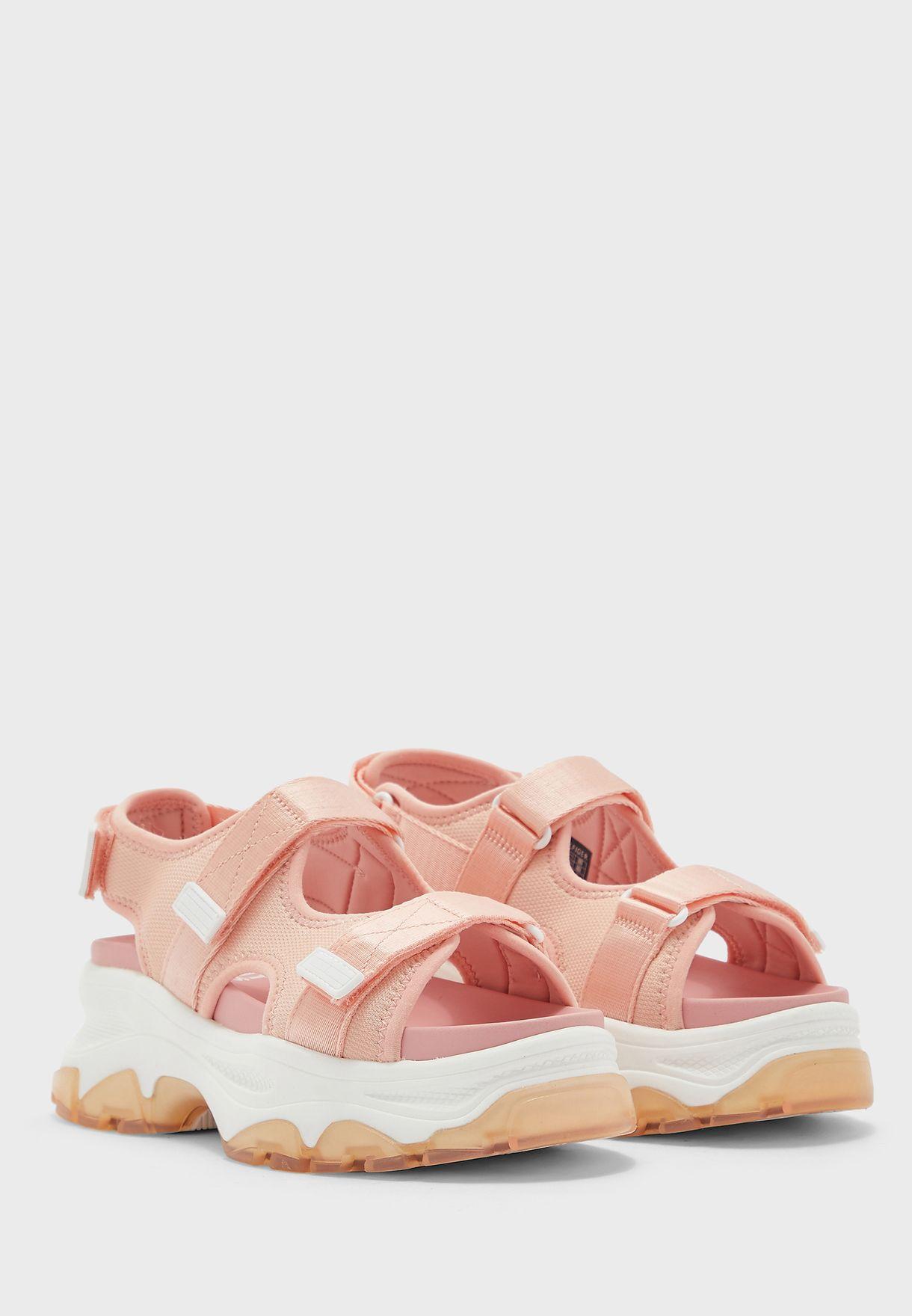Sporty Chunky Wedge Sandal