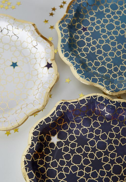 12 Pack Star Pattern Plates