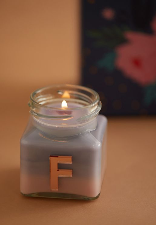 Vanilla Ylang Ylang Monogram Candle - F